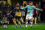 05.11.2019, Signal Iduna Park, Dortmund , GER, Champions League, Gruppenphase, Borussia Dortmund vs Inter Mailand, UEFA REGULATIONS PROHIBIT ANY USE OF PHOTOGRAPHS AS IMAGE SEQUENCES AND/OR QUASI-VIDEO<br /> <br /> im Bild | picture shows:<br /> Thorgan Hazard (Borussia Dortmund #23) reklamiert Foulspiel von Thorgan Hazard (Borussia Dortmund #23), <br /> <br /> Foto © nordphoto / Rauch