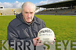 Fitzgerald Stadium groundsman Michael Looney oversees the pitch before the Kerry and Galwey clash on Sunday  .