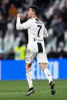 Cristiano Ronaldo of Juventus celebrates after scoring the goal of 1-1 <br /> Torino 3-5-2019 Allianz Stadium Football Serie A 2018/2019 Juventus - Torino <br /> Photo Matteo Gribaudi / Image Sport / Insidefoto