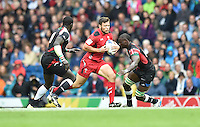 Wales's Adam Thomas breaks forward with the ball<br /> <br /> Kenya Vs Wales - men's placing 5-8 match<br /> <br /> Photographer Chris Vaughan/CameraSport<br /> <br /> 20th Commonwealth Games - Day 4 - Sunday 27th July 2014 - Rugby Sevens - Ibrox Stadium - Glasgow - UK<br /> <br /> © CameraSport - 43 Linden Ave. Countesthorpe. Leicester. England. LE8 5PG - Tel: +44 (0) 116 277 4147 - admin@camerasport.com - www.camerasport.com