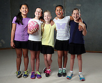 25.11.2014 Junior Netball Photo Shoot in Auckland. Mandatory Photo Credit ©Michael Bradley.