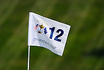 The pin flag on the 12th green during the Afternoon Fourball on Day 2 of the Ryder Cup at Valhalla Golf Club, Louisville, Kentucky, USA, 20th September 2008 (Photo by Eoin Clarke/GOLFFILE)