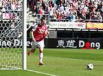 Nederland, Alkmaar, 25 maart 2012.Eredivisie.Seizoen 2011-2012.AZ-RKC Waalwijk (1-0).Johann Berg Gudmundsson van AZ schreeuwt het uit van vreugde nadat hij een doelpunt heeft gemaakt