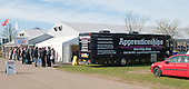 The Apprentices truck outside the main marquee, Kent2020Vision show, County Showground, Kent.