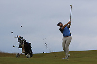 Peter O'Keeffe (Douglas) on the 17th during Round 2 of the North of Ireland Amateur Open Championship 2019 at Portstewart Golf Club, Portstewart, Co. Antrim on Tuesday 9th July 2019.<br /> Picture:  Thos Caffrey / Golffile<br /> <br /> All photos usage must carry mandatory copyright credit (© Golffile | Thos Caffrey)