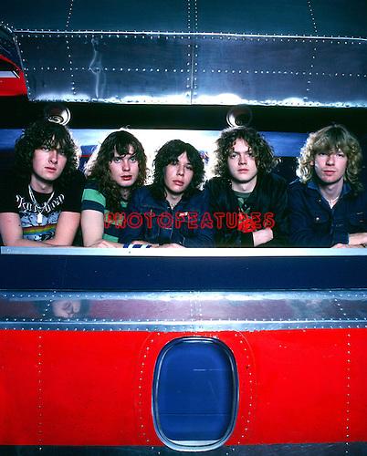 Def Leppard 1979  Joe Elliott, Rick Savage. Pete Willis,Rick Allen, Steve Clark.© Chris Walter.