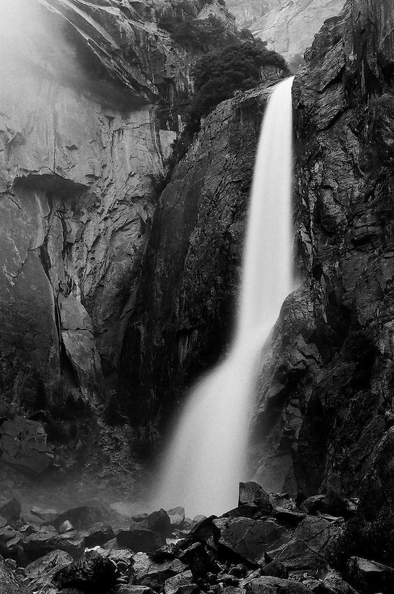 Yosemite Falls,    35mm image on Ilford Delta 100 film