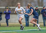 25 April 2015: University of Vermont Catamount Midfielder Alison Bolt, a Sophomore from Tully, NY, in action against the University of New Hampshire Wildcats at Virtue Field in Burlington, Vermont. The Lady Catamounts defeated the Lady Wildcats 12-10 in the final game of the season, advancing to the America East playoffs. Mandatory Credit: Ed Wolfstein Photo *** RAW (NEF) Image File Available ***