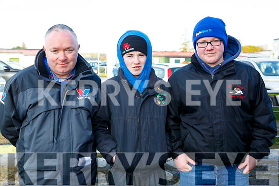 Attending the Kingdom Cup coursing meeting at Ballybeggan Park, Tralee on Wednesday last, l-r, Mattie, Kerry and Timmy Dillion of Kilflynn.