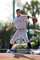 Wilmington Blue Rocks pitcher Jake Odorizzi #23  pitching against the Myrtle Beach Pelicans at BB&T Coastal Field in Myrtle Beach, South Carolina on April 10, 2011.   Photo By Robert Gurganus/Four Seam Images