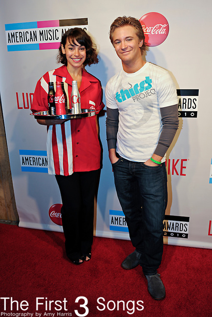"Twilight actor Michael Welch attends the 2010 ""American Music Awards"" Pre-Party Charity Bowl Tournament hosted by Dick Clark Productions at Lucky Strike in Los Angeles, California.  Welch bowled on behalf of the Thirst Project."
