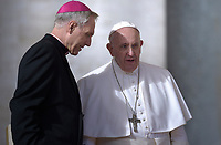 Pope Francis Monsignor Georg Gänswein during of a weekly general audience at St Peter's square in Vatican, Wednesday,November. 21, 2018.