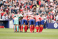 7th March 2020; Wanda Metropolitano Stadium, Madrid, Spain; La Liga Football, Atletico de Madrid versus Sevilla; Atletico de Madrid  huddle pre-game