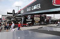 Apr. 26, 2013; Baytown, TX, USA: NHRA top fuel dragster driver Steve Torrence during qualifying for the Spring Nationals at Royal Purple Raceway. Mandatory Credit: Mark J. Rebilas-