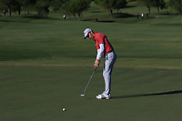 Matthew Jordan (ENG) on the 13th green during Round 3 of the Challenge Tour Grand Final 2019 at Club de Golf Alcanada, Port d'Alcúdia, Mallorca, Spain on Saturday 9th November 2019.<br /> Picture:  Thos Caffrey / Golffile<br /> <br /> All photo usage must carry mandatory copyright credit (© Golffile | Thos Caffrey)