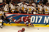 Logan O'Connor (DU - 22), Ryan Donato (Harvard - 16) - The University of Minnesota Duluth Bulldogs defeated the Harvard University Crimson 2-1 in their Frozen Four semi-final on April 6, 2017, at the United Center in Chicago, Illinois.