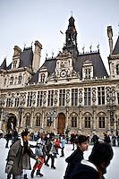 Outdoor ice skating rink Hotel de Ville Paris..©shoutpictures.com.john@shoutpictures.com