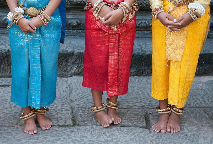 APSARA Dancers performing for Tourist at Angkor Wat, Cambodia