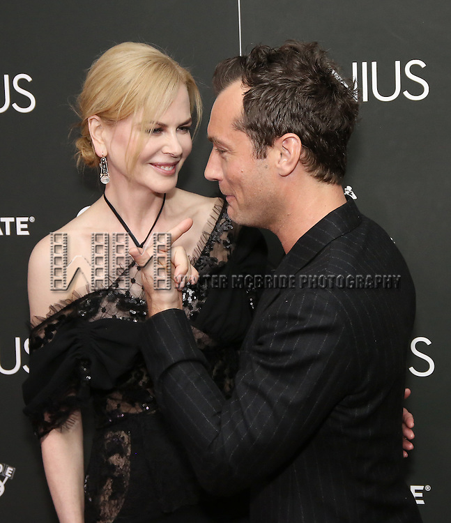 Nicole Kidman and Jude Law attends 'Genius' New York premiere at Museum of Modern Art on June 5, 2016 in New York City.
