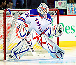 23 January 2010: New York Rangers' goaltender Henrik Lundqvist warms up prior to a game against the Montreal Canadiens at the Bell Centre in Montreal, Quebec, Canada. The Canadiens shut out the Rangers 6-0. Mandatory Credit: Ed Wolfstein Photo