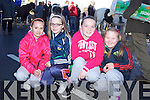 Local friends Maura Broderick, Aibhilín Murphy, Eimear Lenihan and Lydia Murphy enjoying the annual horse fair held last Saturday in Athea.