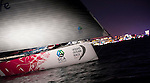 Team SCA heading towards the finish line of the Volvo Ocean Race Leg 3 Abu Dhabi-Sanya on January 27, 2015 in Sanya, China. The Volvo Ocean Race 2014-15 is the 12th running of this ocean marathon. Starting from Alicante in Spain on October 11, 2014, the route, spanning some 39,379 nautical miles, visits 11 ports in 11 countries (Spain, South Africa, United Arab Emirates, China, New Zealand, Brazil, United States, Portugal, France, the Netherlands and Sweden) over nine months. The Volvo Ocean Race is the world's premier ocean race for professional racing crews. Photo by Victor Fraile / Power Sport Images