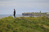 Paul Burke (Mullingar) on the 12th tee during Round 3 of The South of Ireland in Lahinch Golf Club on Monday 28th July 2014.<br /> Picture:  Thos Caffrey / www.golffile.ie