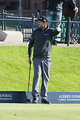 2nd October 2017, The Old Course, St Andrews, Scotland; Alfred Dunhill Links Championship golf practice round; Ireland's Padraig Harrington has a laugh on the first tee on the Old Course, St Andrews, during a practice round before the Alfred Dunhill Links Championship