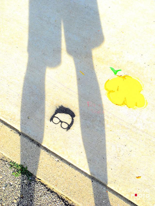 Sidewalk art.