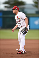 ***Temporary Unedited Reference File***Springfield Cardinals first baseman Luke Voit (18) during a game against the Northwest Arkansas Naturals on April 26, 2016 at Hammons Field in Springfield, Missouri.  Northwest Arkansas defeated Springfield 5-2.  (Mike Janes/Four Seam Images)