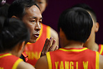 Xu Limin (CHN), <br /> AUGUST 17, 2018 - Basketball : Women's Qualification round match between Japan 73-105 China at Gelora Bung Karno Basket Hall A during the 2018 Jakarta Palembang Asian Games in Jakarta, Indonesia. (Photo by MATSUO.K/AFLO SPORT)