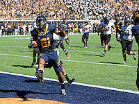 Keenan Allen of California scores a touchdown during the game against Southern Utah at Memorial Stadium in Berkeley, California on September 8th, 2012.   California Golden Bears defeated Southern Utah, 50-31.