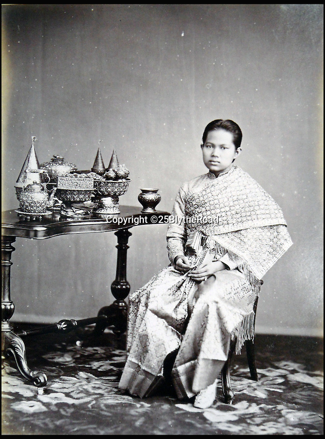 BNPS.co.uk (01202 558833)<br /> Pic: 25BlytheRoad/BNPS<br /> <br /> The Queen of Siam, Queen Sunanda Kumnariratana.<br /> <br /> Stunning 125 year-old pictures of Thailand which showcase the tropical paradise long before it became a tourist hot-spot have emerged.<br /> <br /> The collection of photographs from the early 1890s include images of the King's birthday celebrations in 1892, the King's palace and the Bangkok architecture.<br /> <br /> Also included in the collection are photographs of Hong Kong under British crown rule in 1895 including of British seamen, the Hong Kong cricket team and the native army.<br /> <br /> The photo album will go under the hammer on January 25 and is tipped to sell for £1,500.<br /> <br /> The owner of the album is believed to have been a member of the Royal Engineers or connected with them.<br /> <br /> The fascinating photos provide a snapshot of Thailand under the rule of King Chulalongkorn.<br /> <br /> He was the first Siamese king to have a full western education, having been taught by British governess Anna Leonowens whose memoirs were transported to the silver screen in the famous film The King and I.