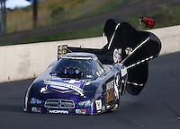 Jul. 19, 2014; Morrison, CO, USA; NHRA funny car driver Jack Beckman during qualifying for the Mile High Nationals at Bandimere Speedway. Mandatory Credit: Mark J. Rebilas-