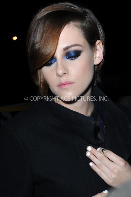 WWW.ACEPIXS.COM<br /> January 13, 2015 New York City<br /> <br /> Kristen Stewart attending a screening of Sony Pictures Classics' 'Still Alice' at Landmark's Sunshine Cinema on January 13, 2015 in New York City.<br /> <br /> Please byline: Kristin Callahan/AcePictures<br /> <br /> ACEPIXS.COM<br /> <br /> Tel: (212) 243 8787 or (646) 769 0430<br /> e-mail: info@acepixs.com<br /> web: http://www.acepixs.com