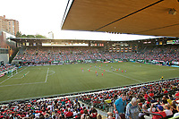 Portland, OR - Saturday May 27, 2017: Providence Park during a regular season National Women's Soccer League (NWSL) match between the Portland Thorns FC and the Boston Breakers at Providence Park.