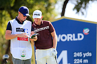 Matt Wallace (ENG) on the 4th tee during the 2nd round of the DP World Tour Championship, Jumeirah Golf Estates, Dubai, United Arab Emirates. 22/11/2019<br /> Picture: Golffile | Fran Caffrey<br /> <br /> <br /> All photo usage must carry mandatory copyright credit (© Golffile | Fran Caffrey)