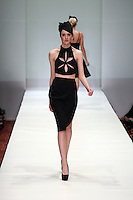 HOUSTON, TX - NOVEMBER 15 : Model walks the runway during a Gemma Kahng show on day four of Fashion Houston Spring 2013 Presented By Audi at the Wortham Theatre Center on November 15, 2012 in Houston, Texas. (Photo by Louis Dollagaray/MediaPunch inc) /NortePhoto /NortePhoto