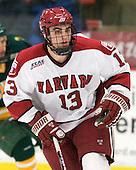 Tommy O'Regan (Harvard - 13) - The Harvard University Crimson defeated the visiting Clarkson University Golden Knights 3-2 on Harvard's senior night on Saturday, February 25, 2012, at Bright Hockey Center in Cambridge, Massachusetts.