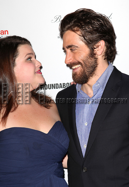Annie Funke & Jake Gyllenhaal attending the After Party for Opening Night Performance of the Roundabout Theatre Production of  'If There Is I Haven't Found It Yet' at the Laura Pels Theatre in New York City on 9/20/2012.