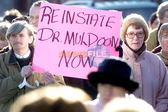 Protesters at the march for Dr. Muldoon on Saturday..Picture Paul Mohan Newsfile