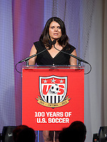 Mia Hamm. US Soccer held their Centennial Gala at the National Building Museum in Washington DC.