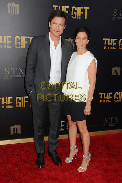 30 July 2015 - Los Angeles, California - Jason Bateman, Amanda Anka. &quot;The Gift&quot; Los Angeles Premiere held at Regal Cinemas LA Live.  <br /> CAP/ADM/BP<br /> &copy;Byron Purvis/AdMedia/Capital Pictures