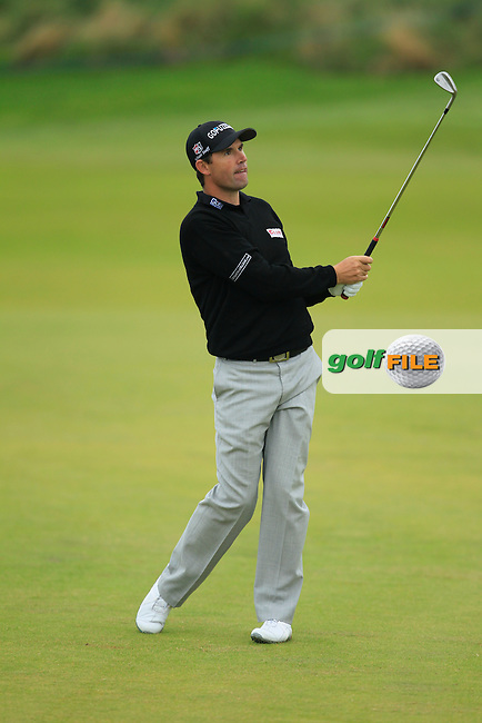 Padraig Harrington (IRL) during Round 2 of the Alfred Dunhill Links Championship at Kingsbarns Golf Club on Friday 27th September 2013.<br /> Picture:  Thos Caffrey / www.golffile.ie