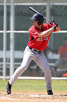 Boston Red Sox minor league player Bryan Peterson during a spring training game vs the Baltimore Orioles at the Buck O'Neil Complex in Sarasota, Florida;  March 22, 2011.  Photo By Mike Janes/Four Seam Images