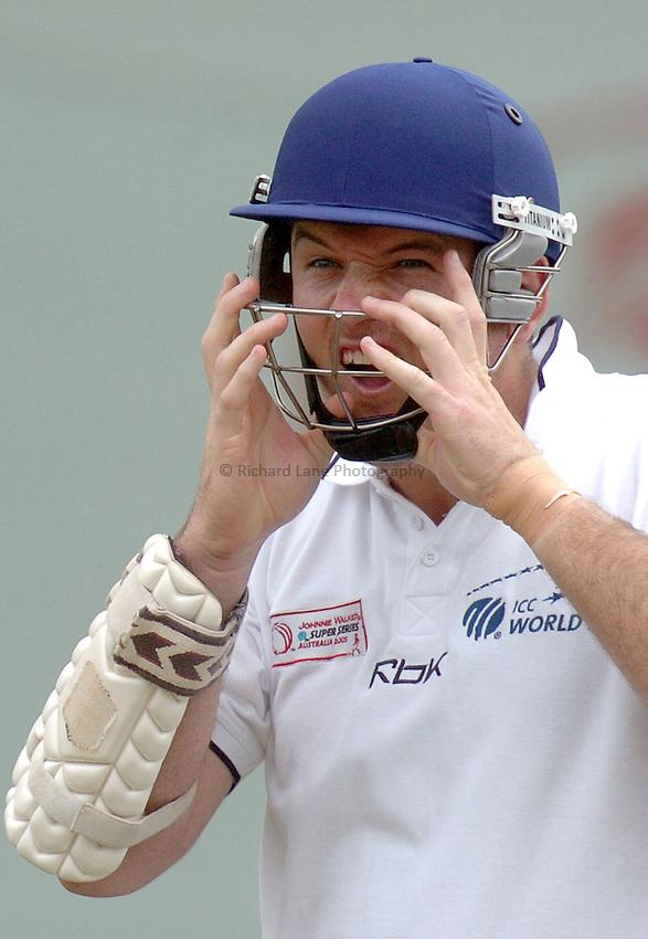 Photo: Steve Holland..Test Match Series. Australia v ICC World XI. 13/10/2005. World Training session..Graeme  Smith