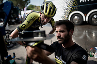 pre-training ride saddle check by Luke Durbridge (AUS/Mitchelton-Scott)<br /> <br /> restday 2<br /> 106th Tour de France 2019 (2.UWT)<br /> <br /> ©kramon