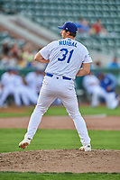 Evy Ruibal (31) of the Ogden Raptors delivers a pitch to the plate against the Grand Junction Rockies at Lindquist Field on July 25, 2018 in Ogden, Utah. The Rockies defeated the Raptors 4-0. (Stephen Smith/Four Seam Images)