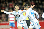 Real Club Deportivo de la Coruña's Quique Gonzalez celebrates goal during La Liga 2 match. February 10,2019. (ALTERPHOTOS/Alconada)