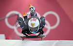 Katie Uhleander (USA). Womens Skeleton training. Pyeongchang2018 winter Olympics. Olympic sliding centre. Alpensia. Pyeongchang. Republic of Korea. 07/02/2018. ~ MANDATORY CREDIT Garry Bowden/SIPPA - NO UNAUTHORISED USE - +44 7837 394578